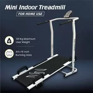 Sparnod Fitness STH-500 Manual Treadmill Running Machine for Home
