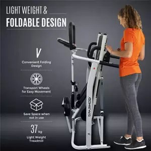 Sparnod Fitness STH600 Manual Running Machine for Home