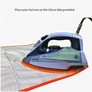 Synergy Extra Large Ironing Mat with Aluminised Heat Reflective Coating and Silicon for use as Ironing Board