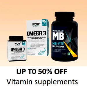 Up to 50% off Vitamin Supplements - Offer and Discount In Amazon
