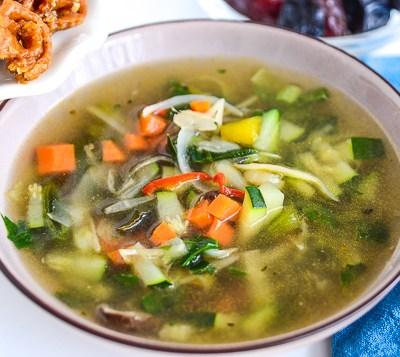 vegetarische groentensoep