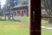 Fort Langley through the glass