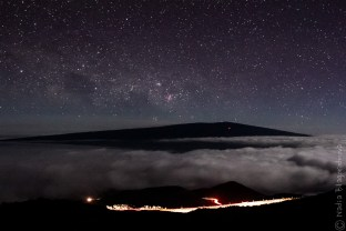 Mauna Loa in a starry night