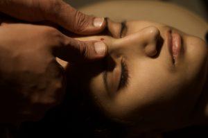 woman undergoing Marma Chikitsa Restorative and Healing Therapy