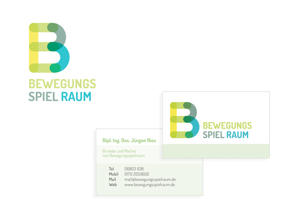 Corporate Design- Möbel - Kindergarten - Bewegungsspielraum - Logo - Visitenkarten