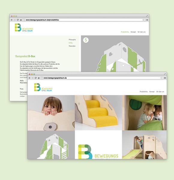 Corporate Design - Kindergarten - Möbel - Bewegungsspielraum - Browser - Webdesign