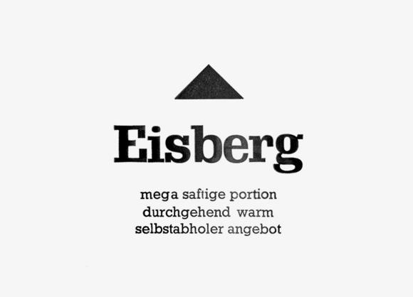 Eisberg - Formfleischvorderschinken - Poesie - Handsatz