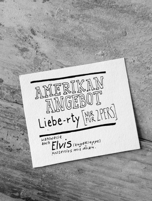 Elvis - Formfleischvorderschinken - Poesie - Handsatz