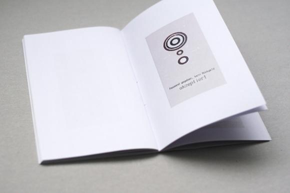 Editorial Design - konkrete Poesie - Kunst - Quittungsbelege - Lastschrift - Design - aufgeklappt