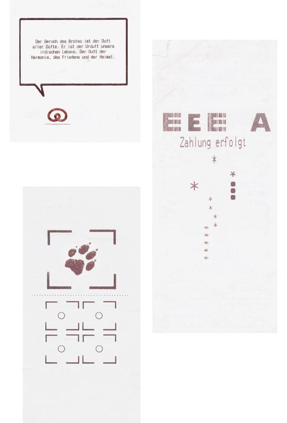 konkrete Poesie - Typografie - Kunst - Rechnungen - Quittungen