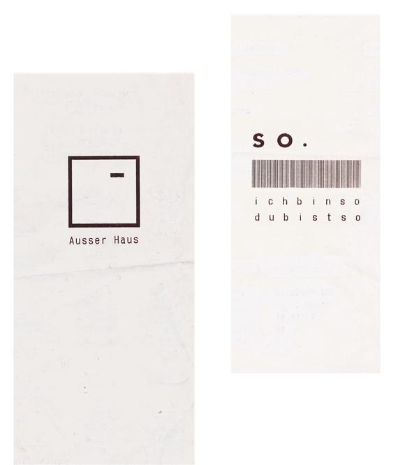 konkrete Poesie - Typografie - Kunst - Rechnungen - Quittungen - Schrift - Barcode