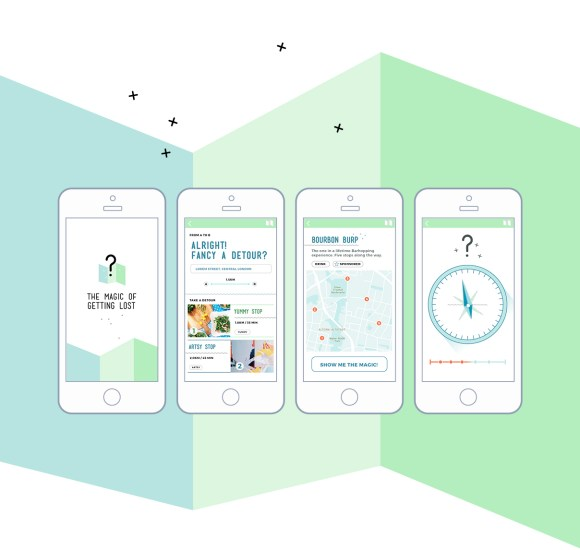The Magic of Getting Lost - App - Screen Design - Gestaltung - Best Design - Navigator