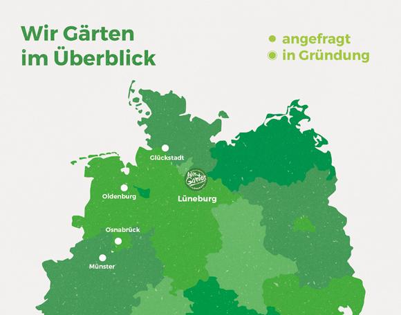 Wir Garten Landkarte Norddeutschland