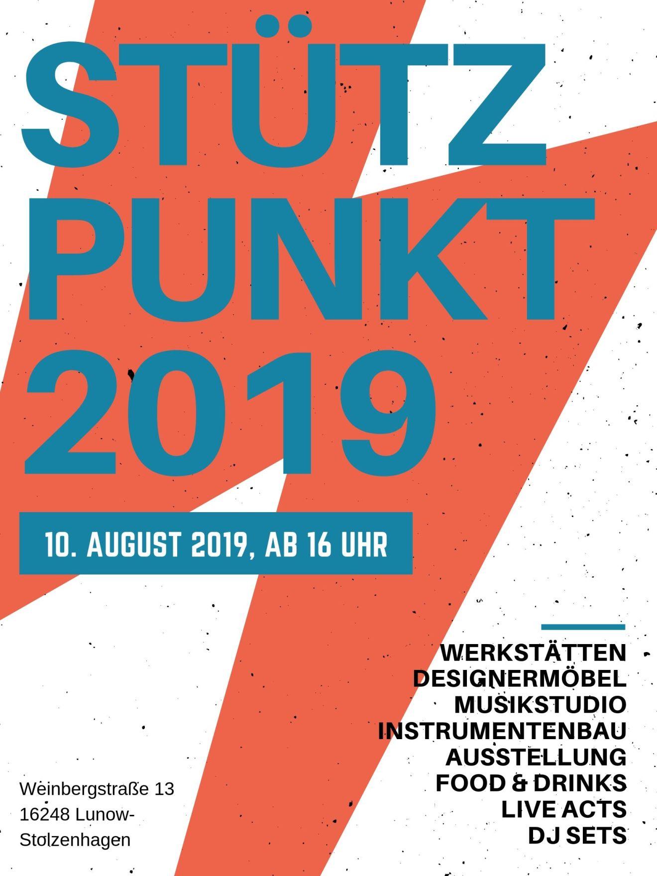 Flyer zum Stützpunkt Fest 2019