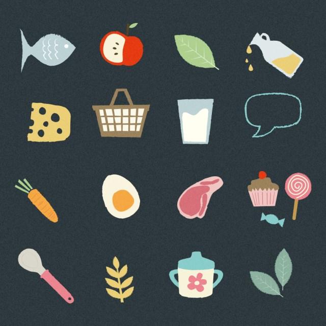 Babyernährung Icons