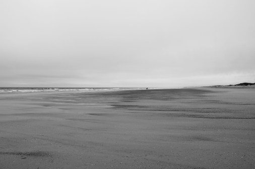 cloudy day on the beach in france