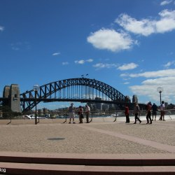 Blick von der Sydney Opera zur Harbour Bridge