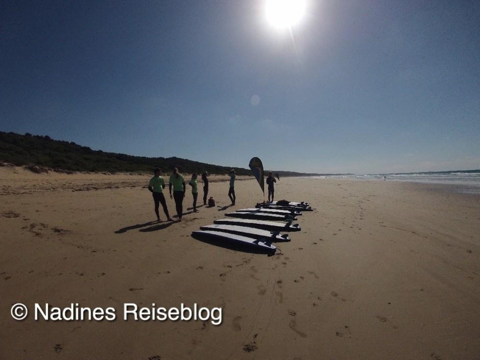 Vorbereitungen auf Surfkurs