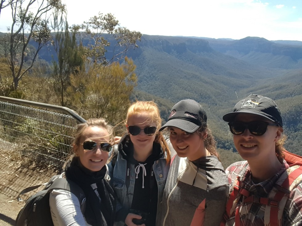 Der Anfang des Grand Canyons Walks in den Blue Mountains