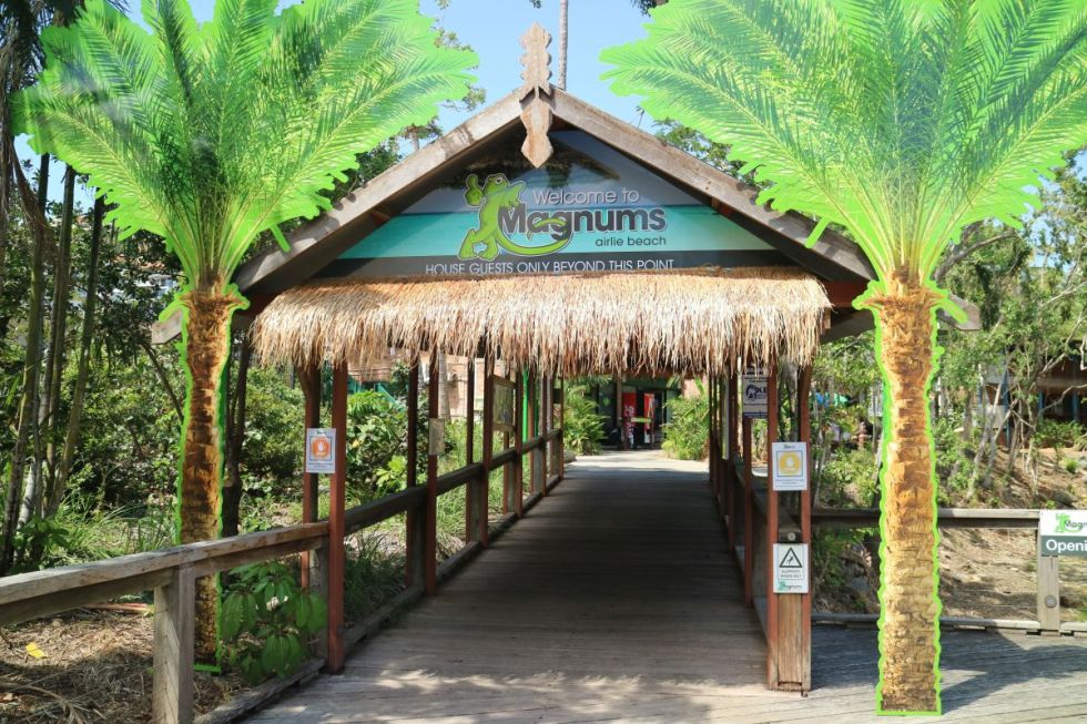 Eingang zum Hostel Magnums