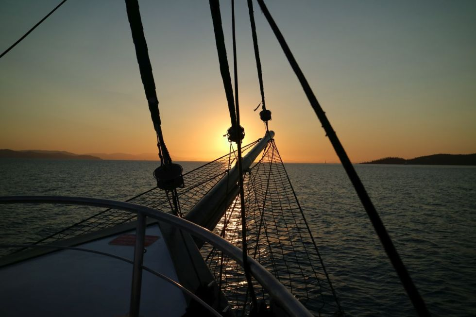 Sonnenuntergang auf den WHitsundays
