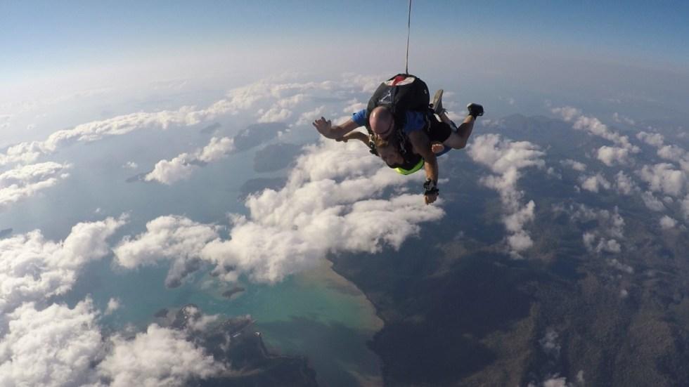 Die Aufnahme des Filmers von meinem Skydive