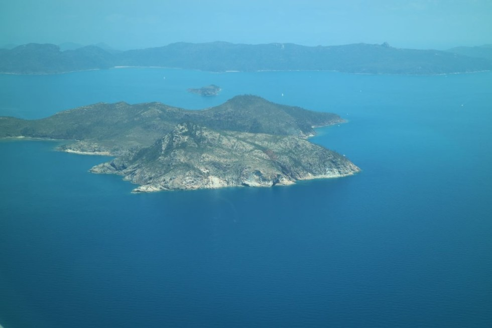 One of the Whitsunday Islands from above
