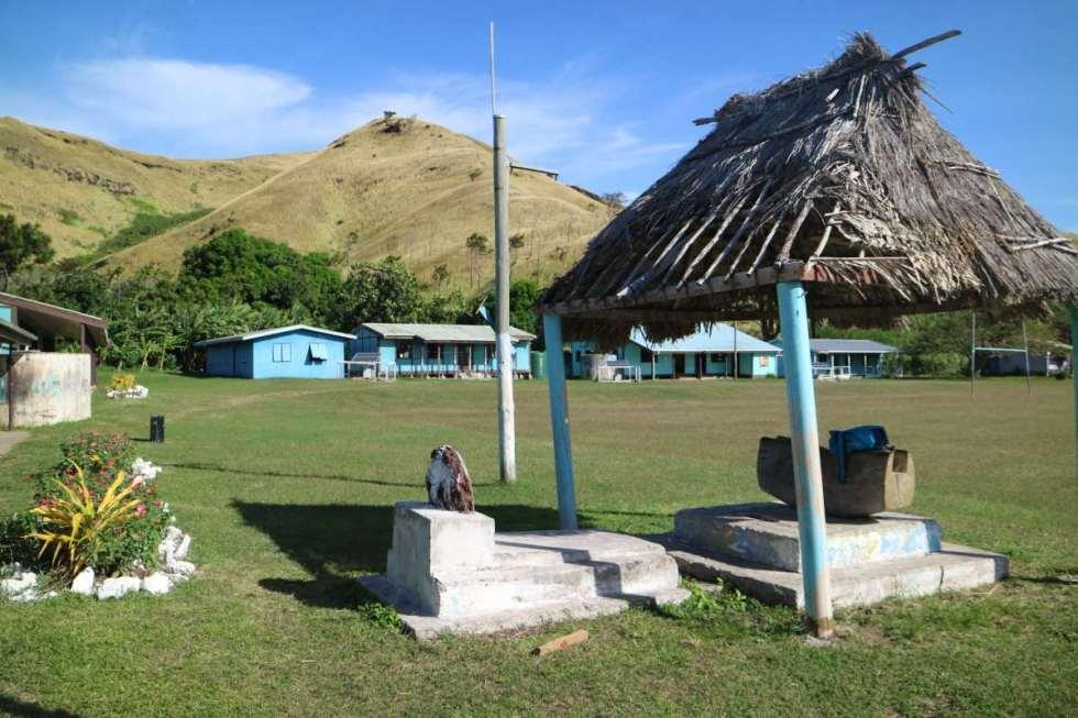 Schoolyard of the Nacula Village School, fiji