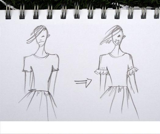 sketch frills nadine wilmanns