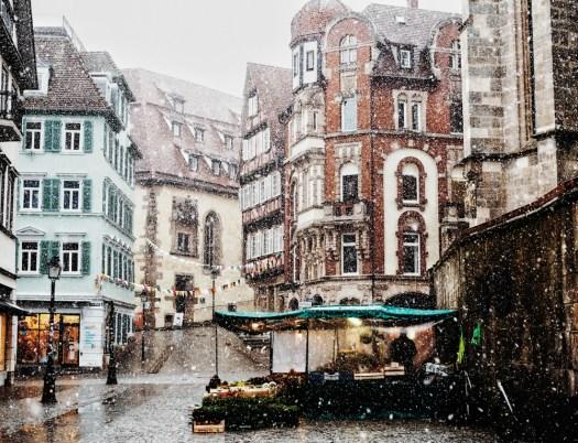 life is now , snow in Tübingen town