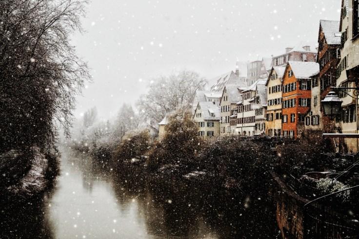 snow in Tübingen