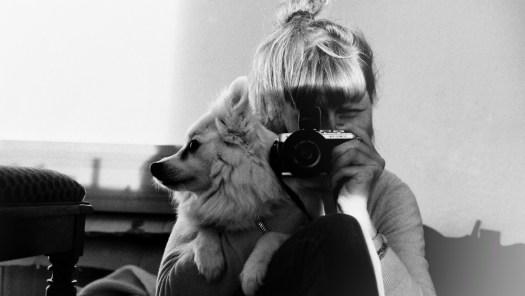 creativity selfie with dog