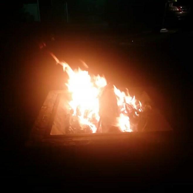 Total eclipse super harvest moon backyard bonfire. #transformation #manifestingabundance #gratefulforthislife