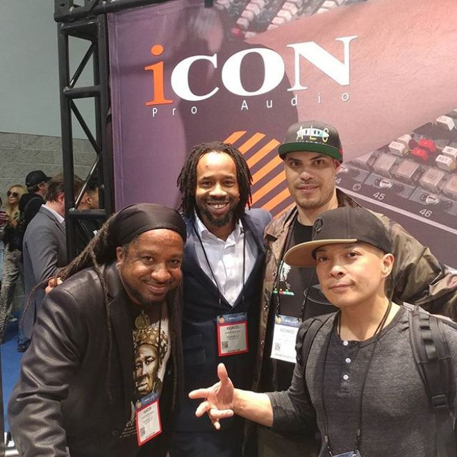 DJ Qbert hung out at the @iconproaudio booth yesterday as well. Today is the last day. Stop by and see us at #Booth6000
