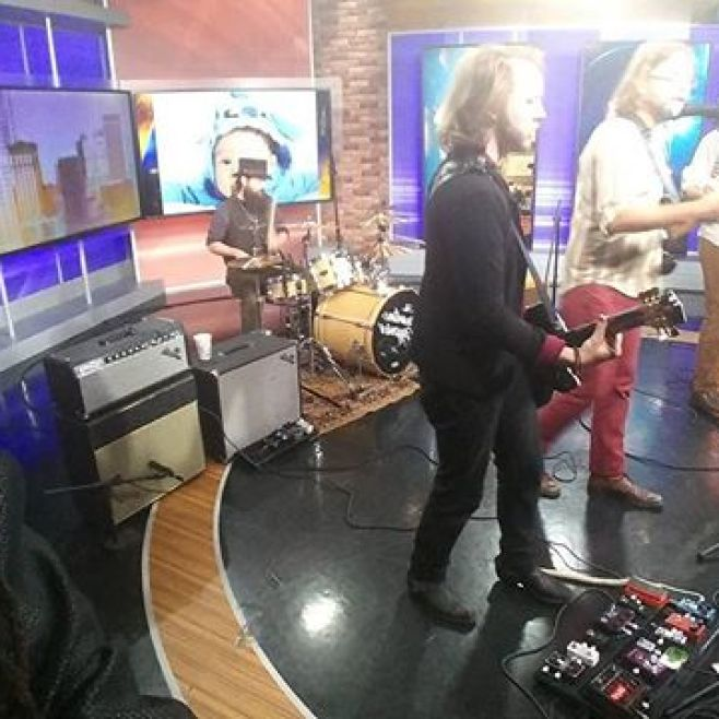 Up early at Fox 2 Detroit with @thegasolinegypsies, winners of the Michigan State Fair Superstar competition this year. These guys are great! Check us out around 10:46am.