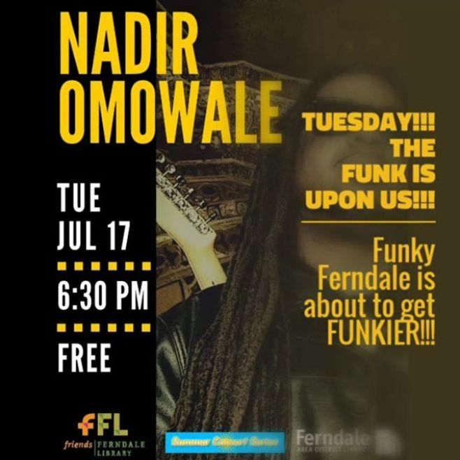 It's NOT going to rain in Ferndale Tuesday Evening! But... If it does, THE FUNK will move indoors! Library management promises we can recreate The Breakfast Club dance scene with FULL BAND!LET'S GO!Ferndale Library Summer Concert Series222 East 9 Mile Rd, Ferndale,Michigan