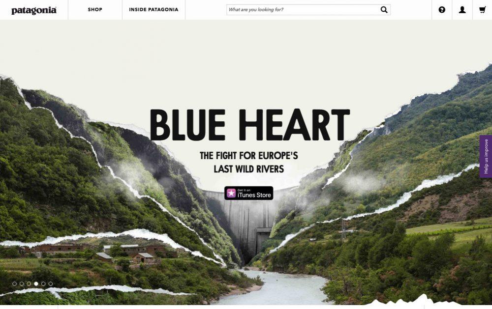 patagonia web design