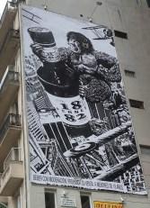"""Publicidad en via pública: King Kong """"Mona Gimenez"""" (Av. del Libertador y Basavilvaso)"""