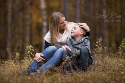 Mother and Son Autumn Portrait