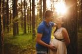 Фотосессия беременности в лесу