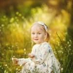 Детская фотосессия у леса