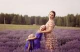 Фотосессия на лавандовом поле в Латвии