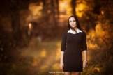 Портретная фотосессия на природе осенью в Риге. Фотограф Надя Рубина.