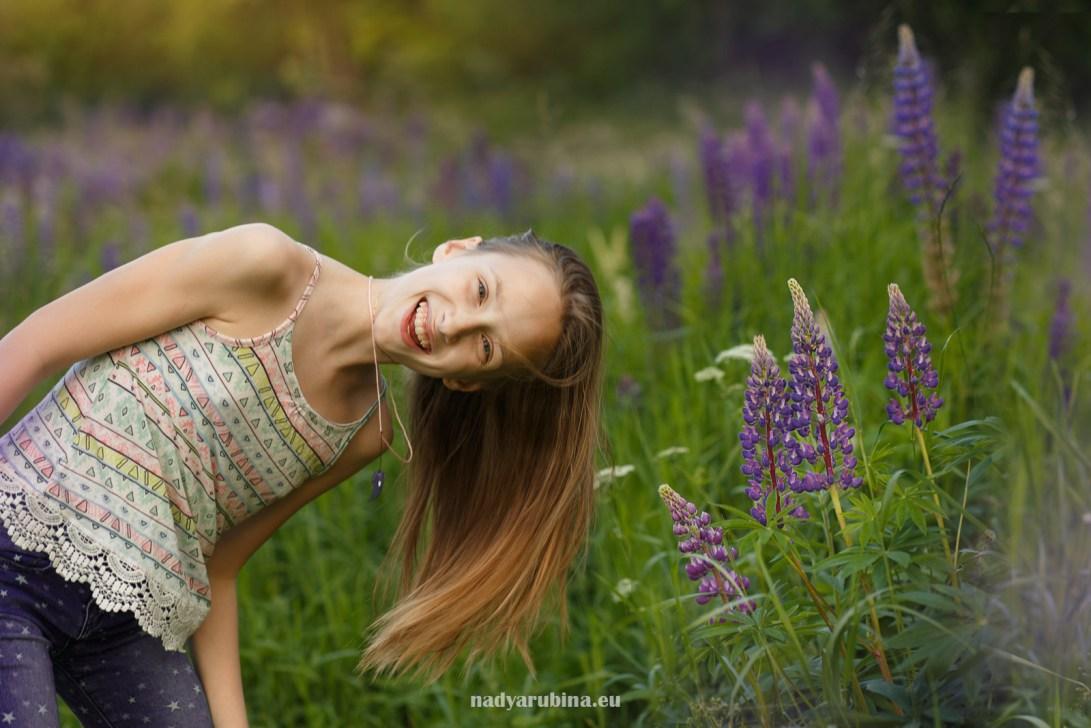 Цветение люпинов в РИге, фотосессия