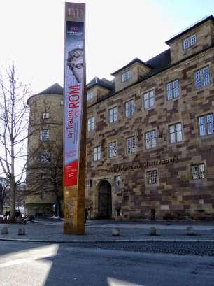 """Die Sonderausstellung """"Ein Traum von Rom"""" widmet sich der römischen Stadtkultur im heutigen Südwestdeutschland. Nach dem Start im Rheinischen Landesmuseum Trier wurde die Ausstellung auch im Landesmuseum Württemberg in Stuttgart gezeigt."""