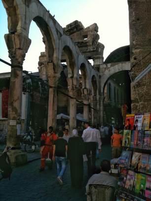 Reste des römischen Jupiter-Tempels am Souk al-Hamediya unweit der Umayyaden-Moschee. Er wurde wohl 30 vor Chr. errichtet.