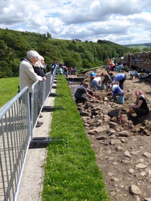Ausgrabungen in der archäologischen Stätte des Kastell Vindolanda