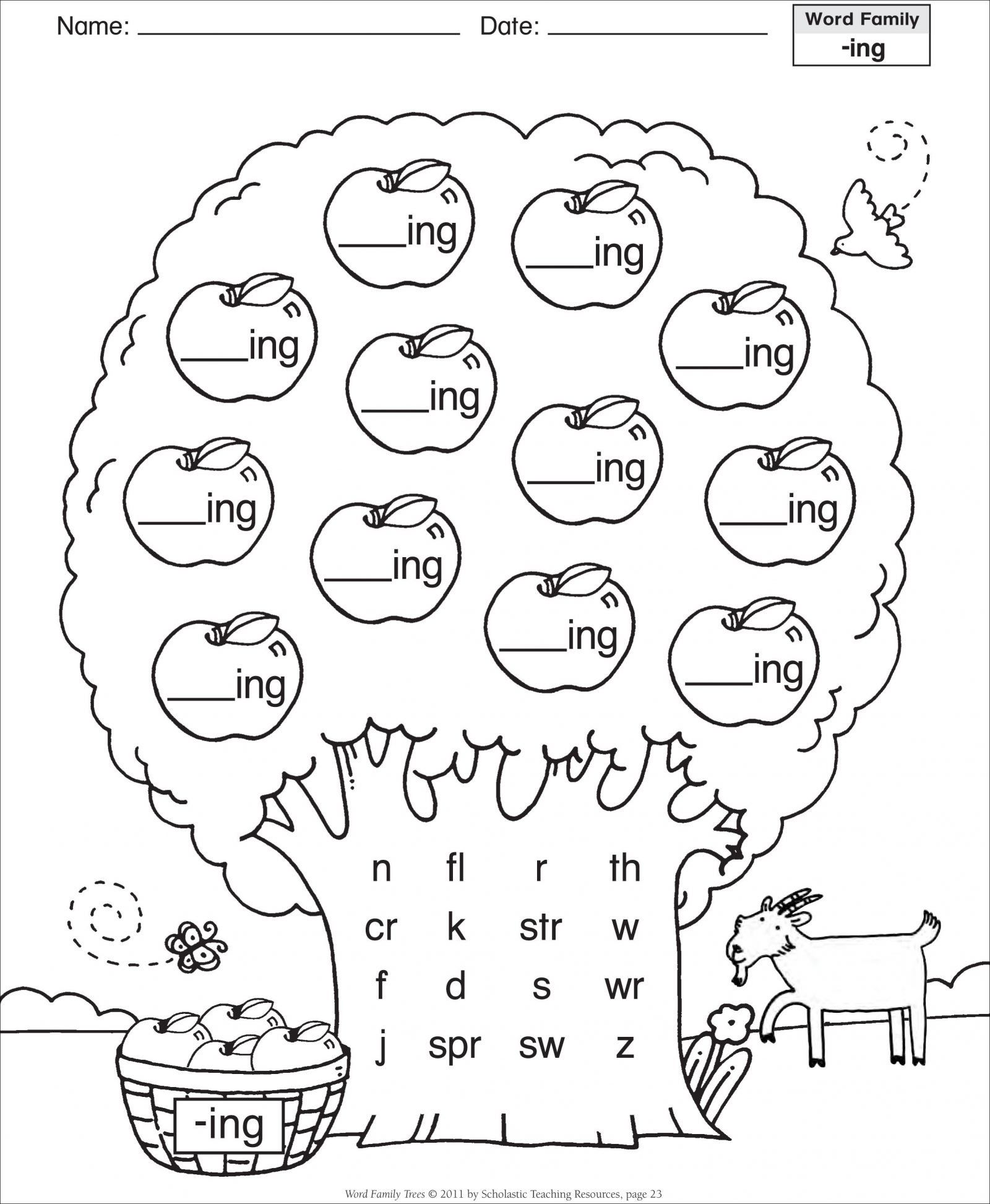 Word Families Worksheets For Preschoolers Save