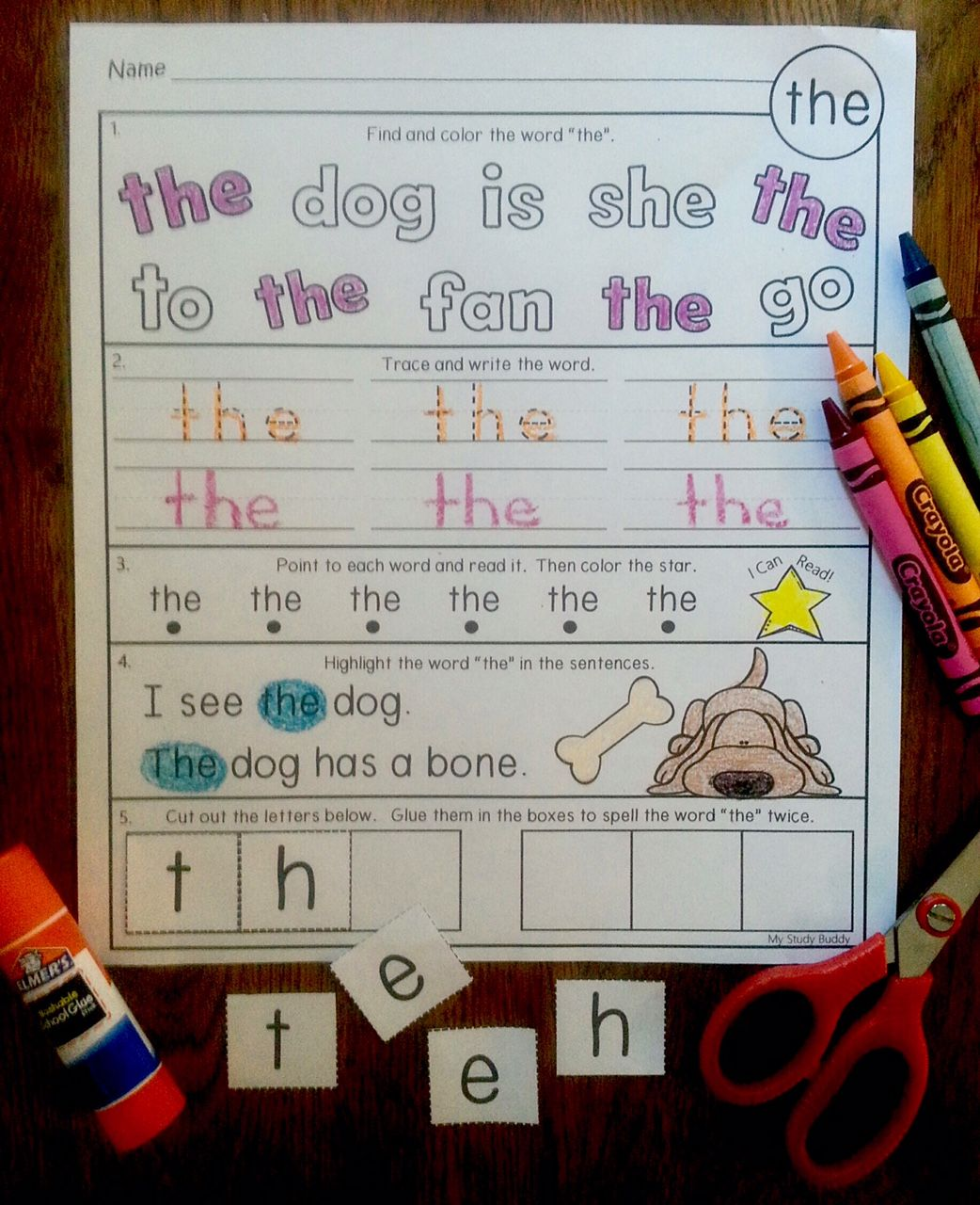 17 Best Kindergarten Sight Word Sheets Images On All About