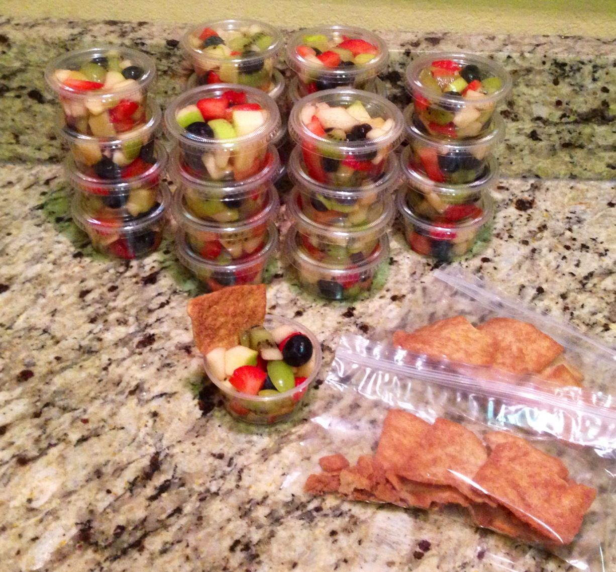Kindergarten Class Snack Fruit Salad Cups With Stacy S On